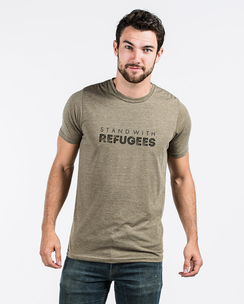 Stand With Refugees Mens Premium Fitted Tee