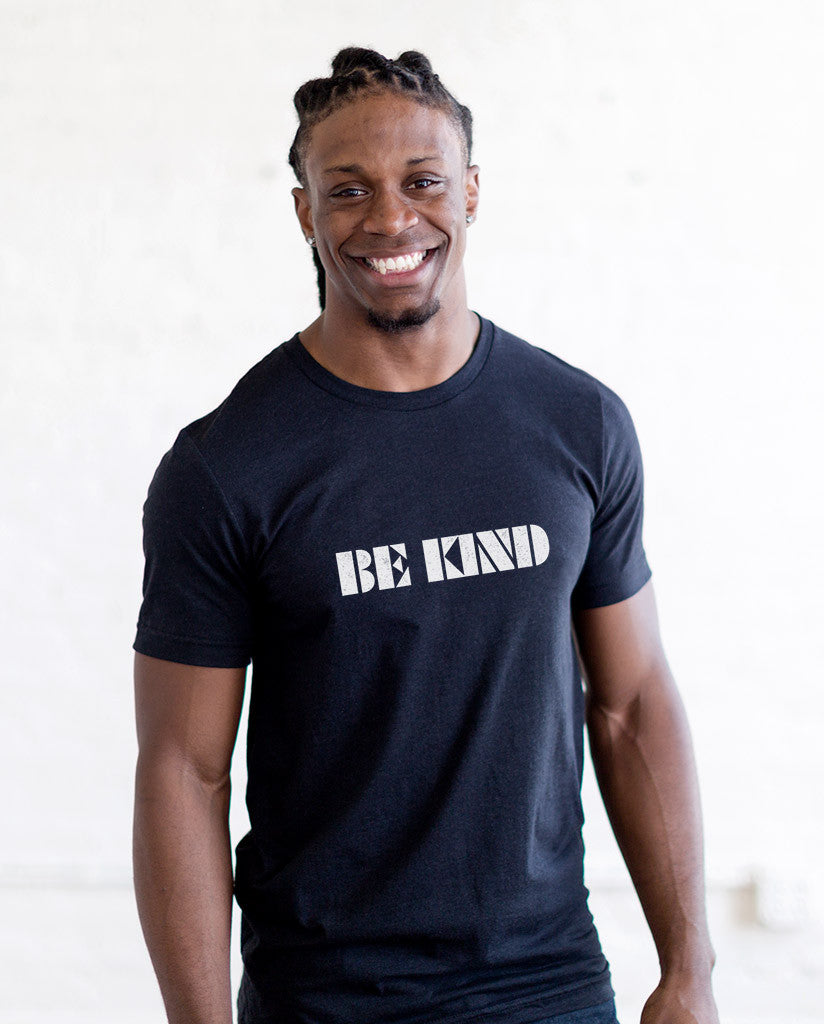 BE KIND Mens Premium Fitted Tee