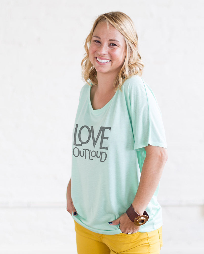 Love Out Loud Womens Slouchy Tee