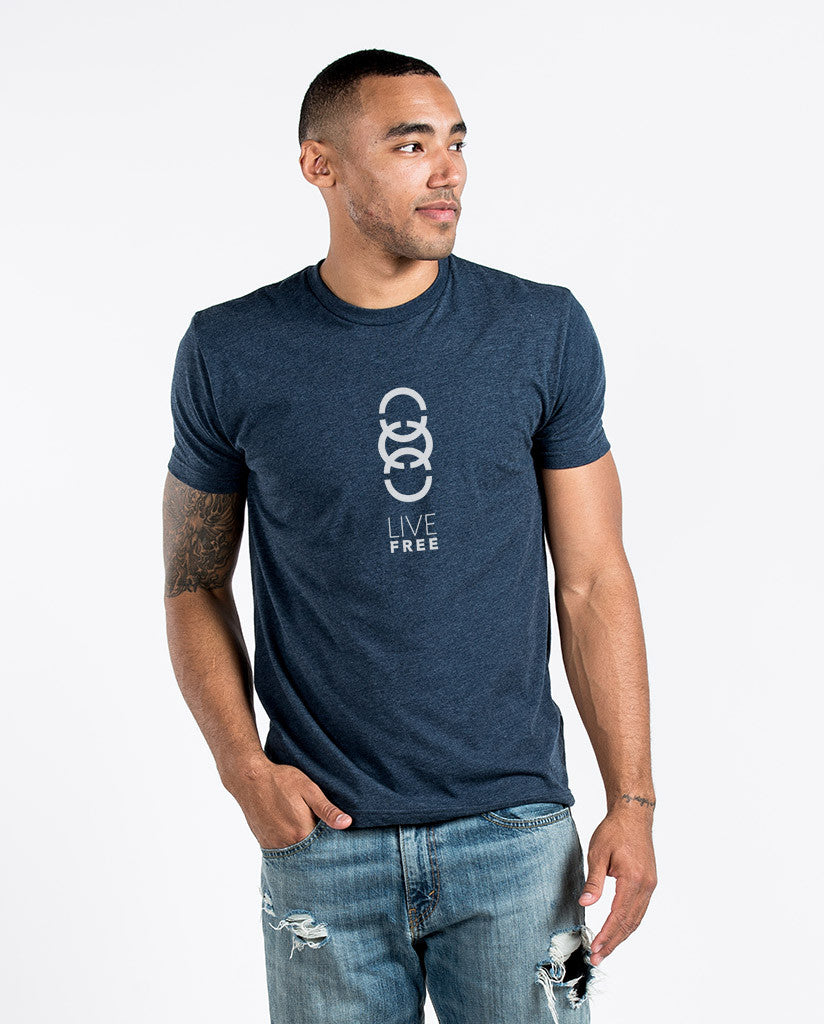 LIVE FREE Mens Premium Fitted Tee