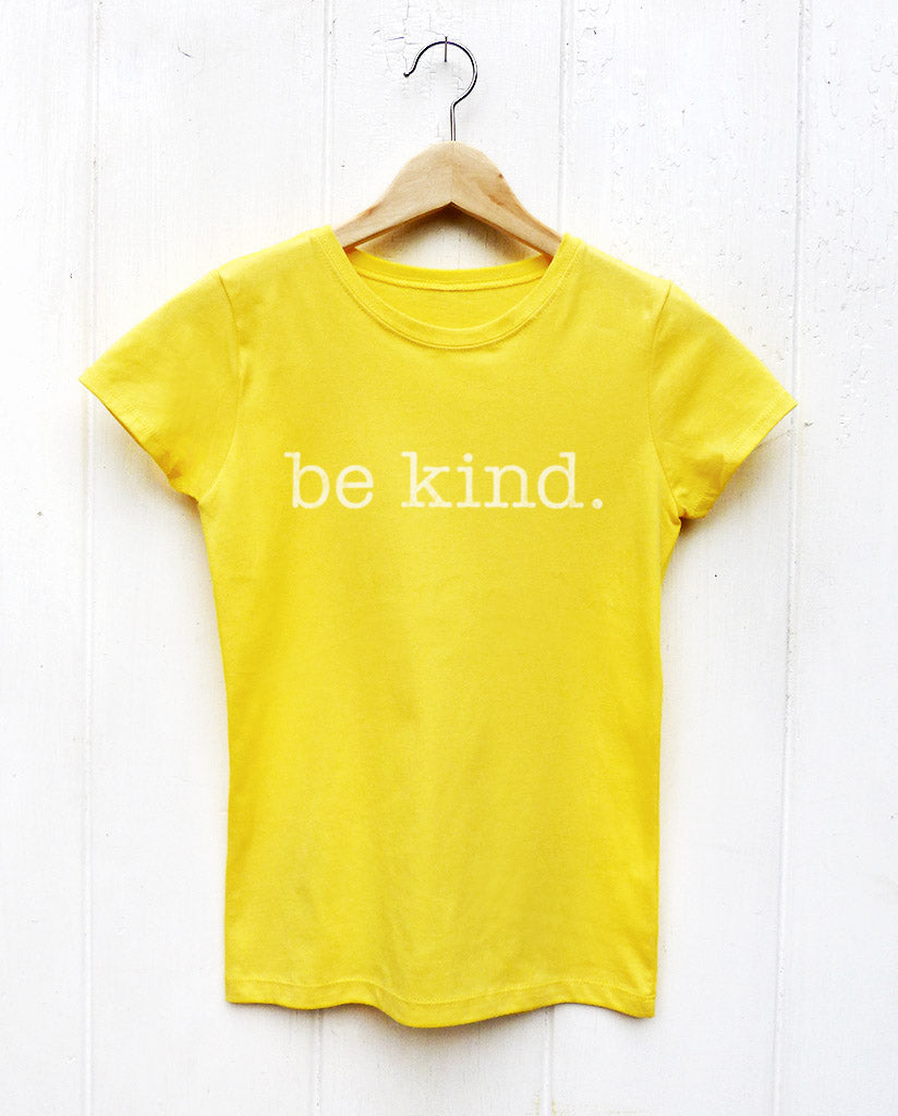 Be Kind Yellow Girls Tee