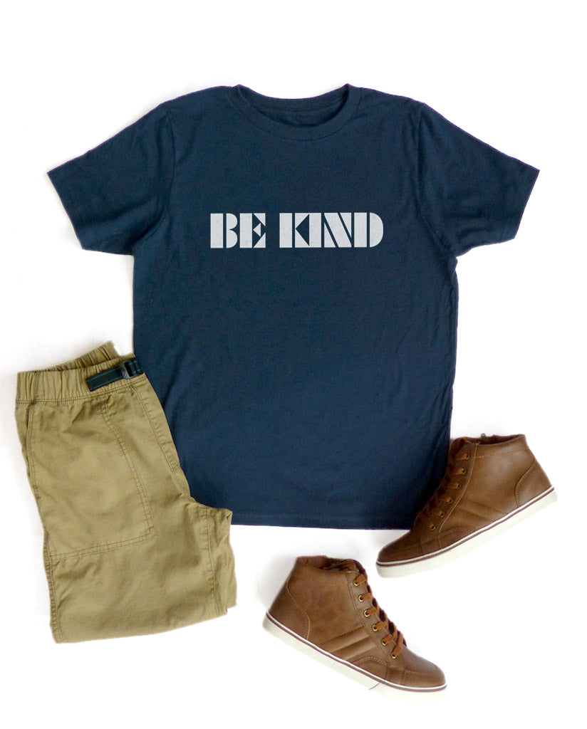 Be Kind Boys Navy Tee