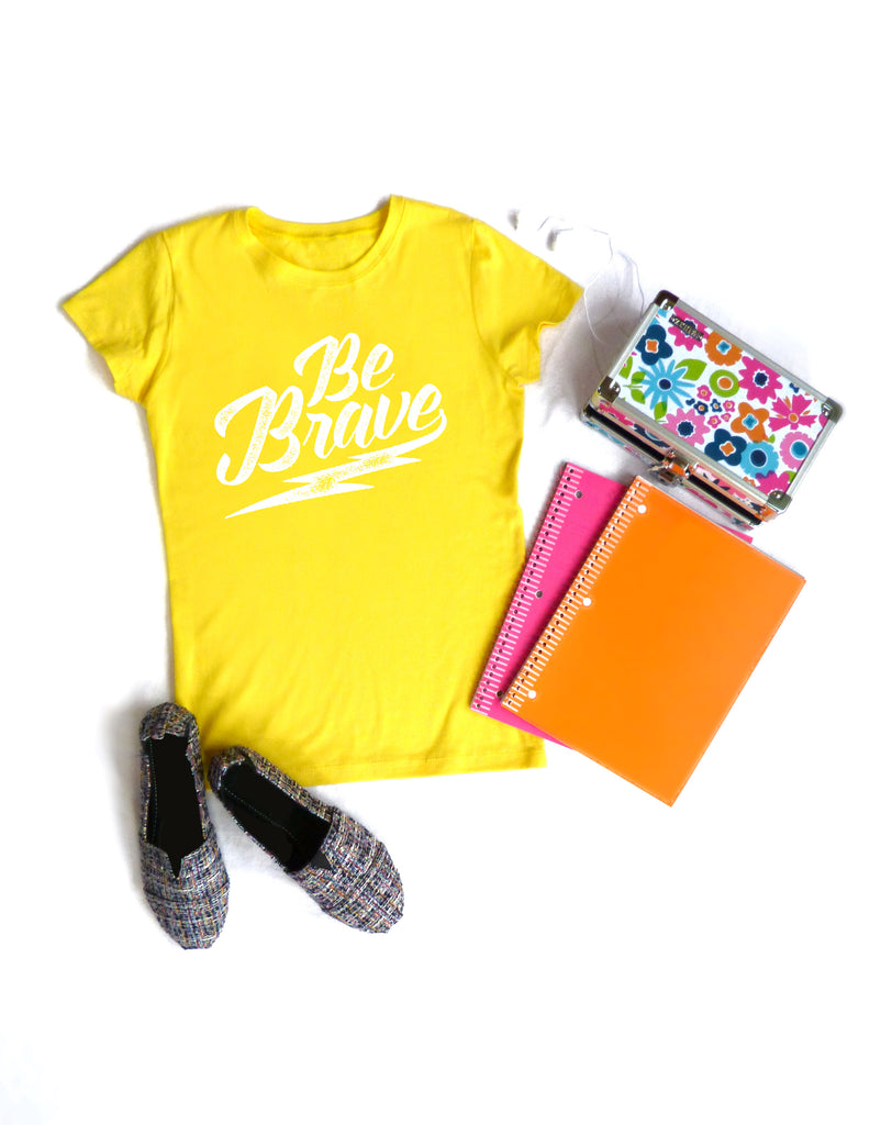 Be Brave Girls Yellow Tee