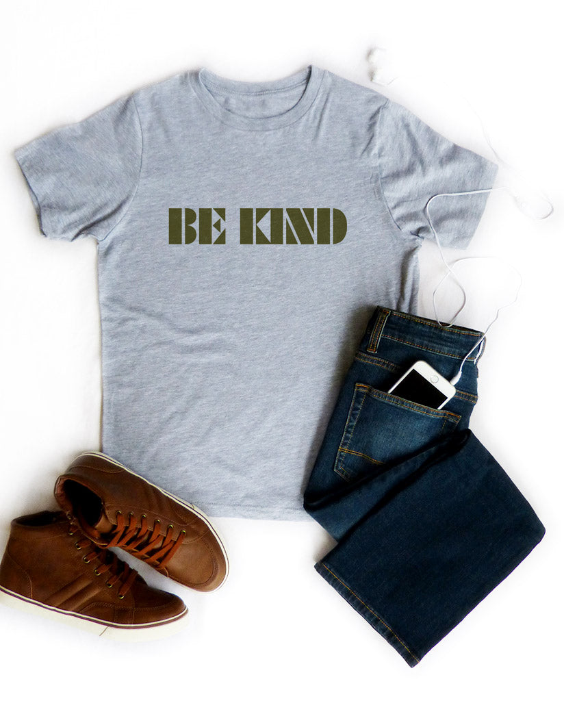 Be Kind - Boys Grey Triblend Tee