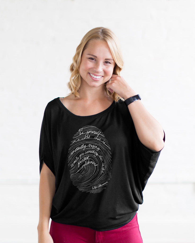 Emerson Fingerprint Womens Flowy Circle Top