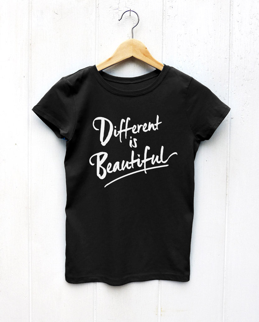 Different Is Beautiful Girls Princess Tee