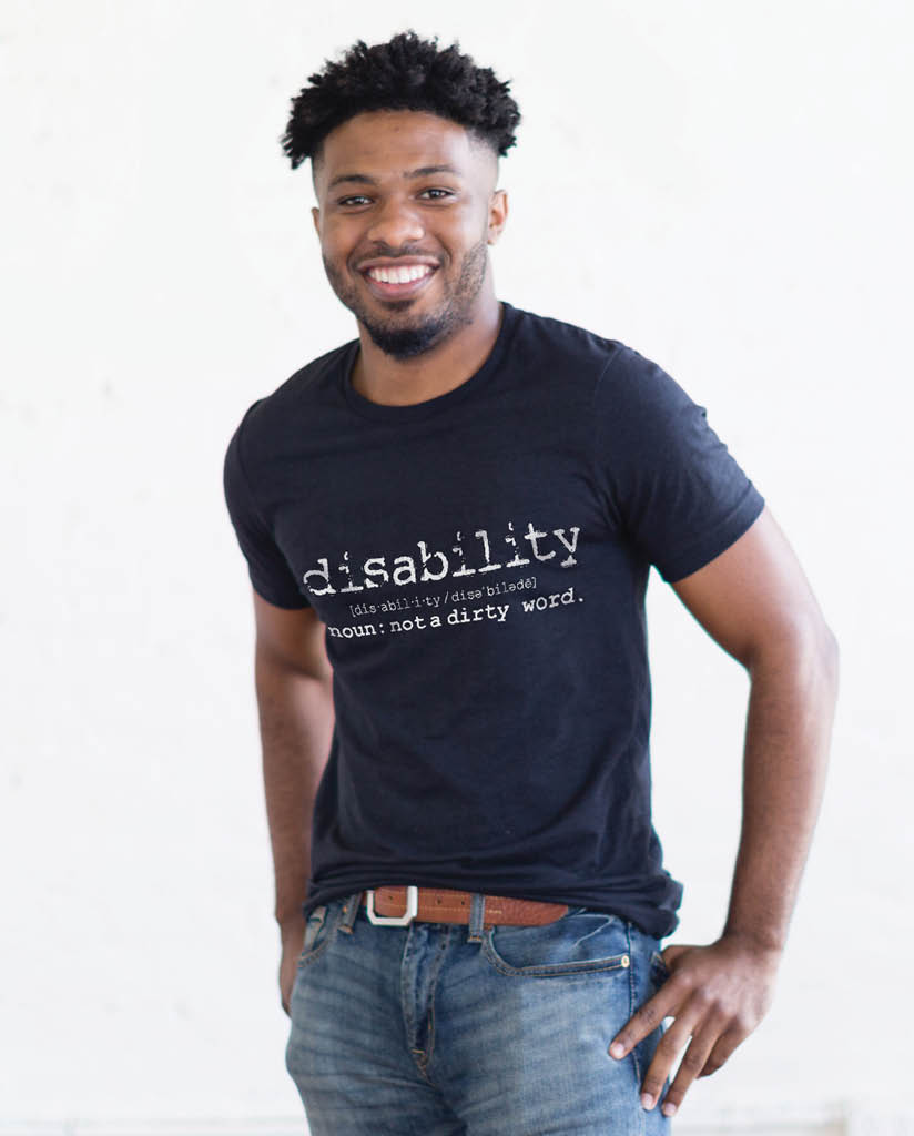 DISABILITY - Mens Black Premium Fitted Tee