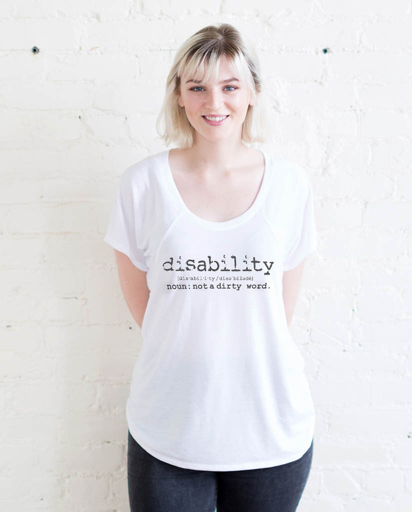 DISABILITY Womens White Flowy Raglan
