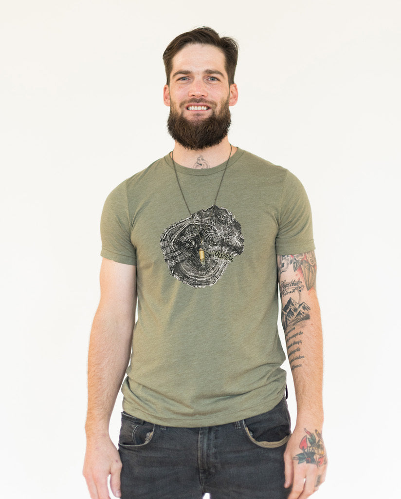 OLD SOUL Mens Green Premium Fitted Tee