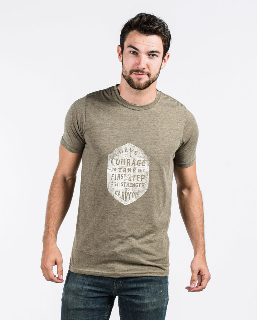 HAVE COURAGE Mens Premium Fitted Tee