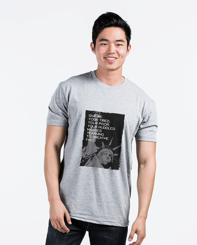 LIBERTY Unisex Grey Triblend Short Sleeve Tee
