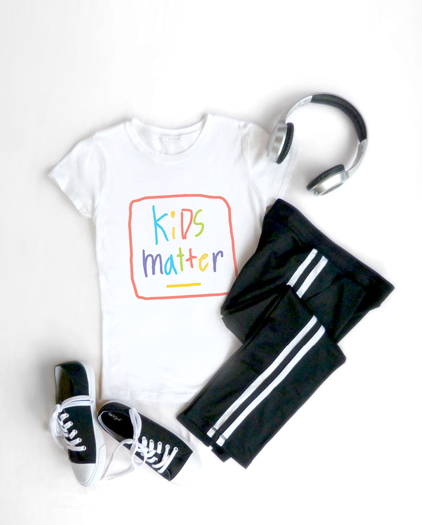 KIDS MATTER Girls White Princess Tee
