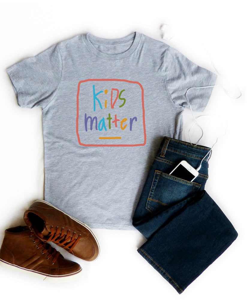 KIDS MATTER Boy's Grey Cotton Crew