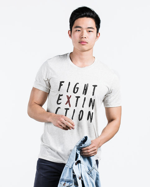 FIGHT EXTINCTION Unisex Natural Short Sleeve Tee