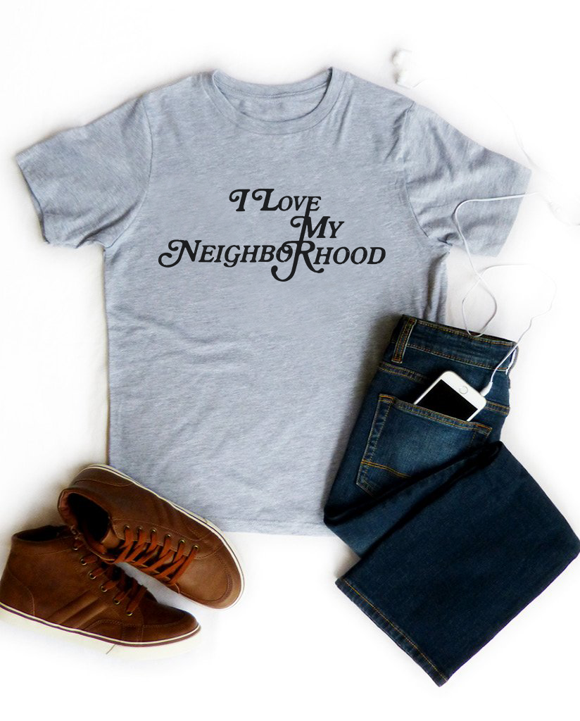 I LOVE MY NEIGHBORHOOD Boys Heather Grey Short Sleeve Tee