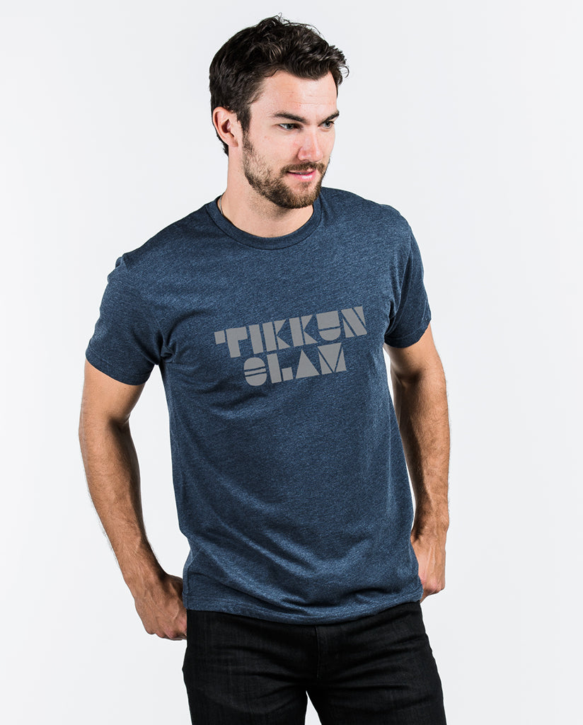 TIKKUN OLAM Mens Blue Premium Fitted Tee