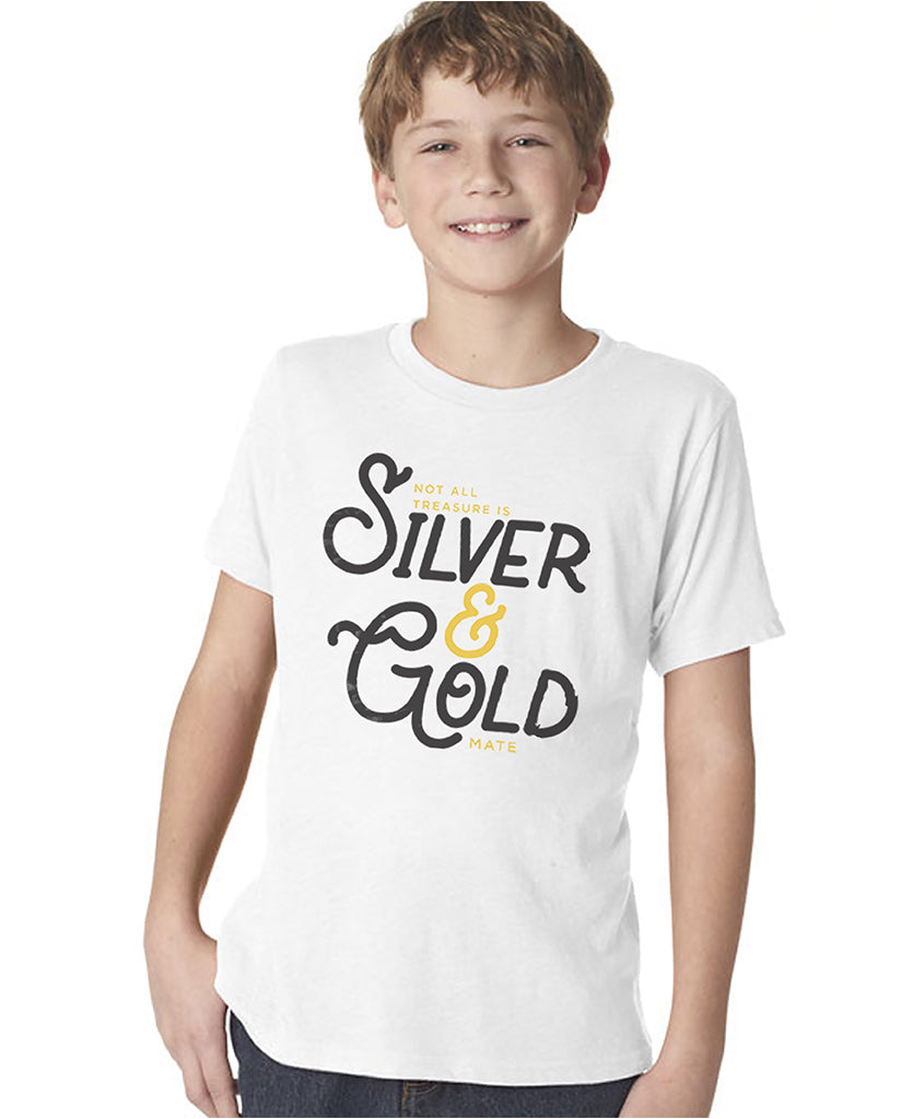 Silver & Gold Boy's Premium Short Sleeve Crew