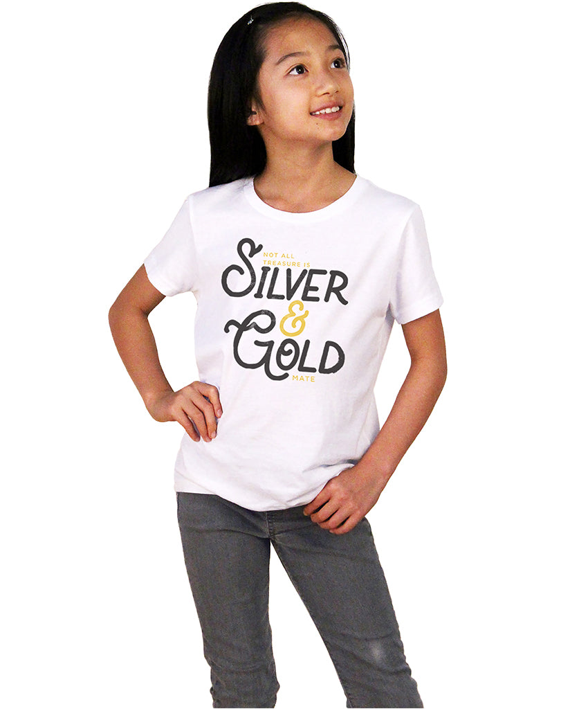 Silver & Gold Girls Premium Short Sleeve Crew