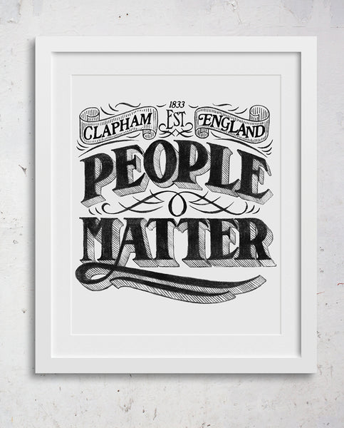 PEOPLE MATTER Wall Art