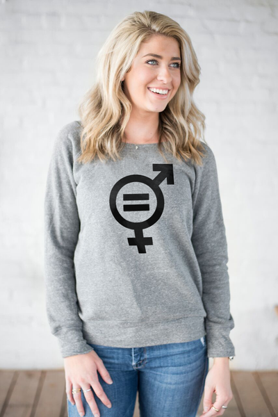 SUSTAINABLE DEVELOPMENT GOAL Womens Grey Slouchy Sweatshirt