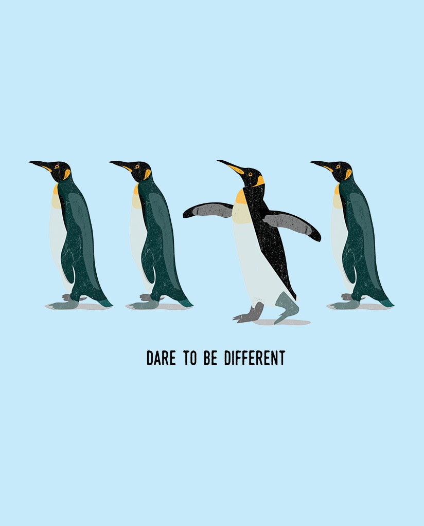 DARE TO BE DIFFERENT Boy's Grey Cotton Crew