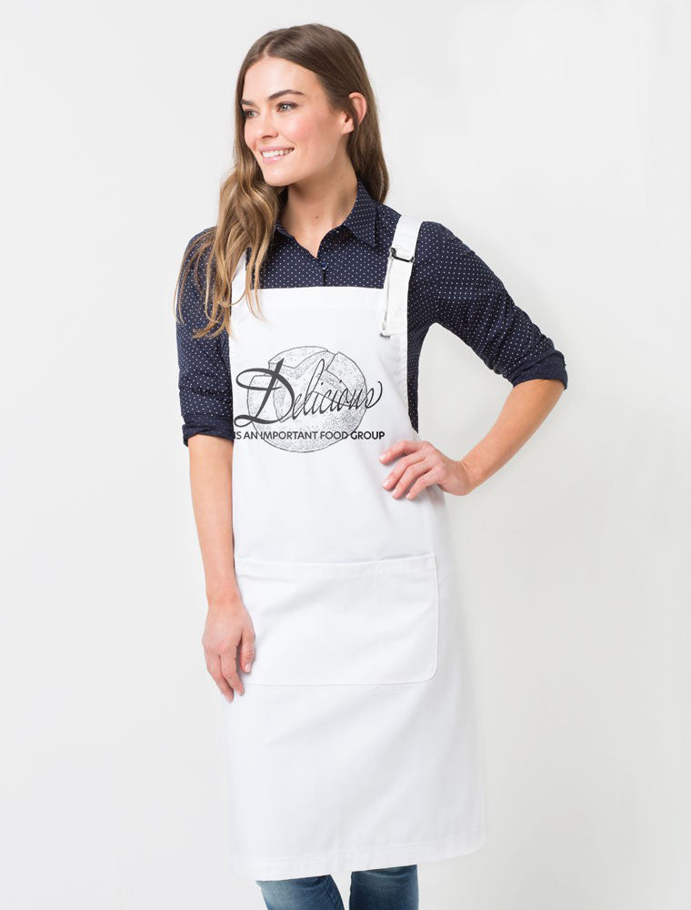 Delicious Is An Important Food Group Sourdough Unisex Premium Cotton Poly Chef's Full Length Apron
