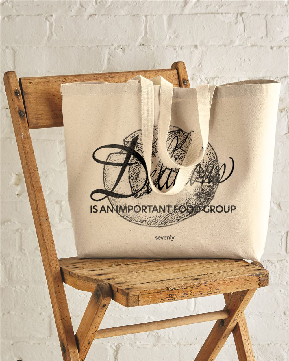 Delicious Is An Important Food Group Sourdough Jumbo Cotton Canvas Jumbo Tote
