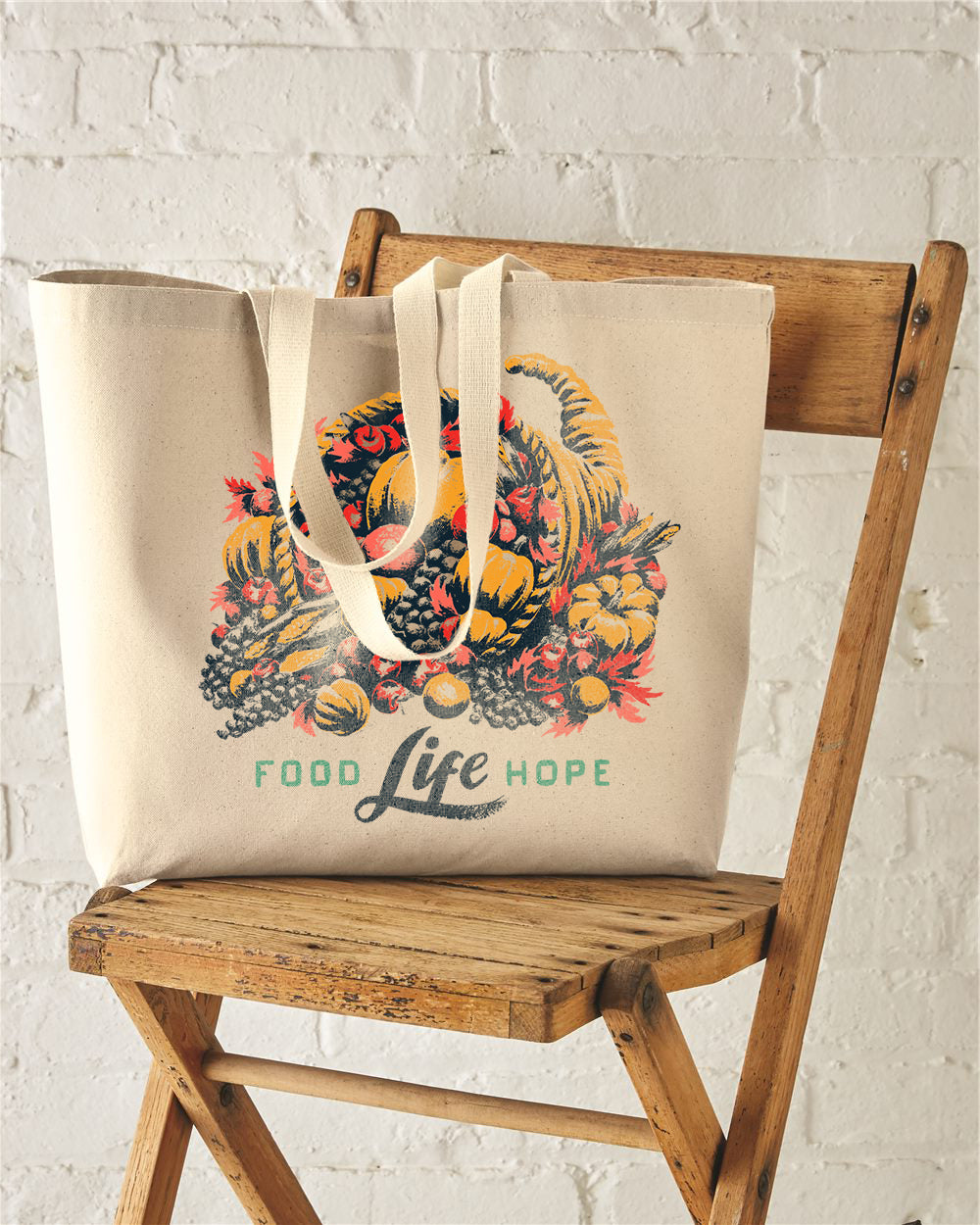 Deliver Cornucopia Premium Cotton Canvas Jumbo Tote