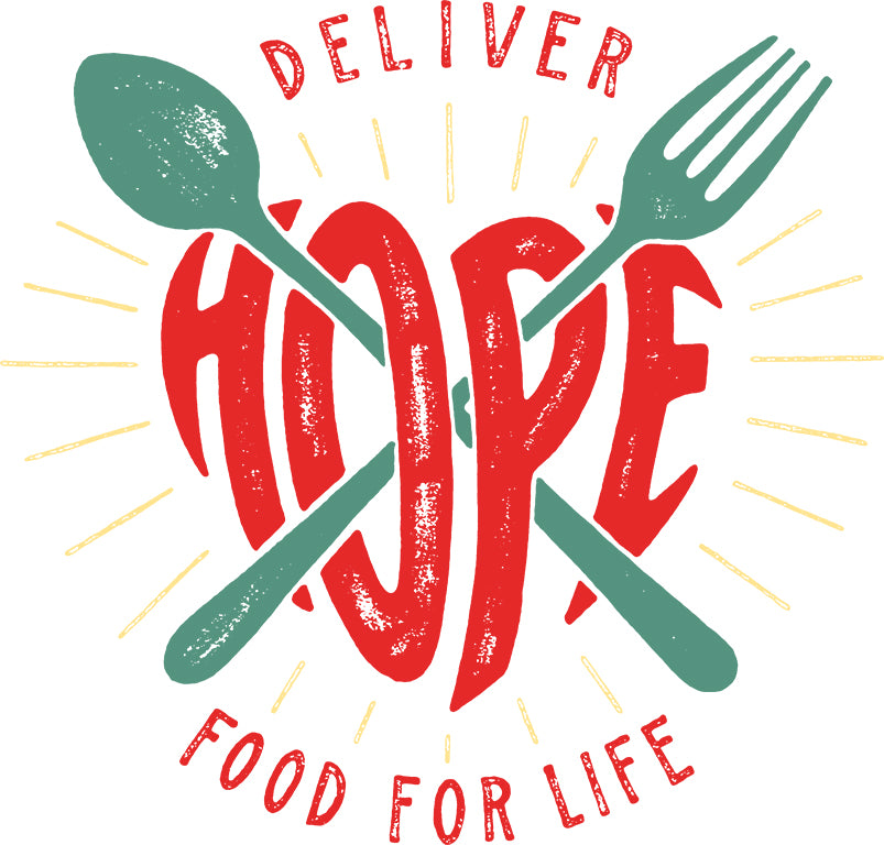 Deliver HOPE Food For Life Jumbo Cotton Canvas Tote Bag