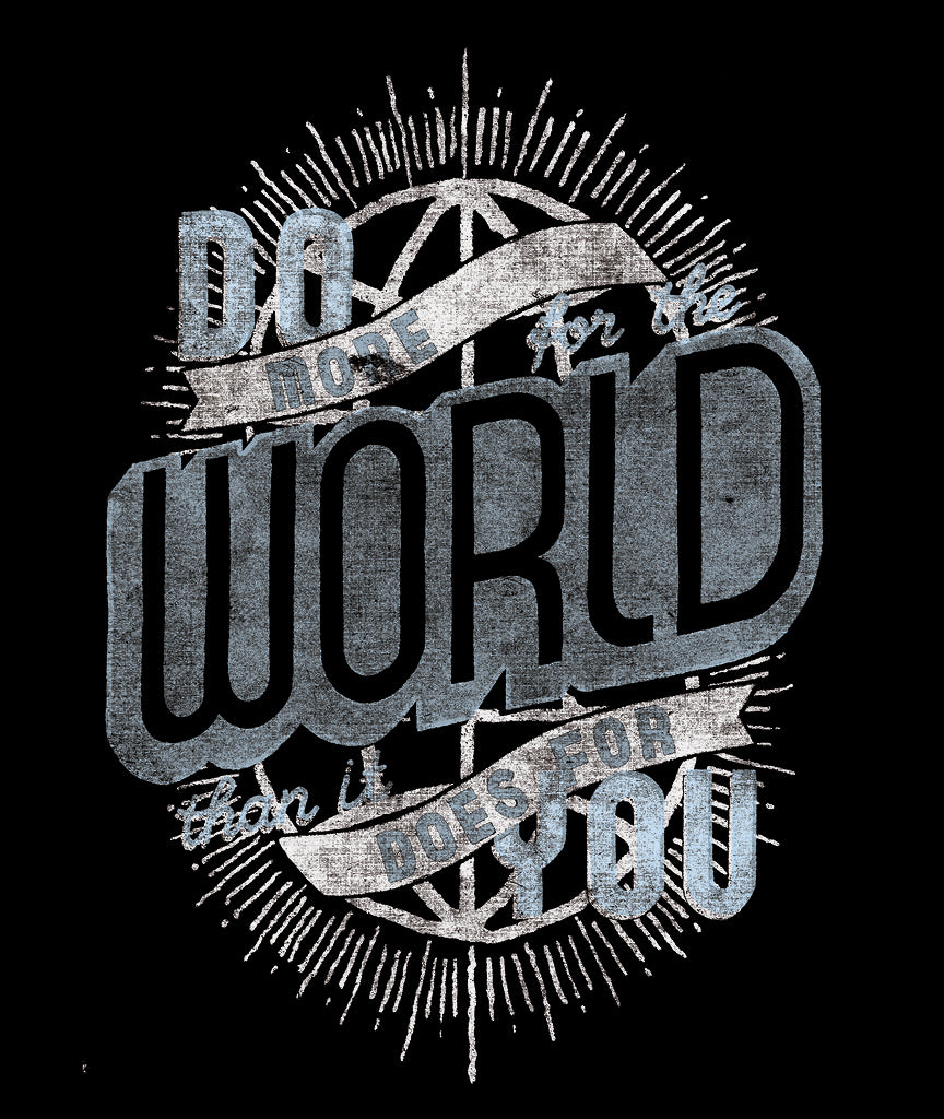 DO MORE FOR THE WORLD Unisex Grey Vintage Tee