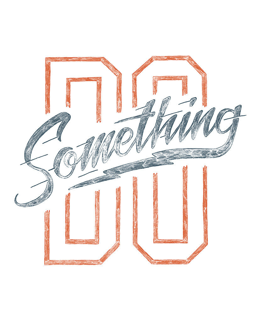 DO SOMETHING Unisex White Eco-Jersey Football T-Shirt