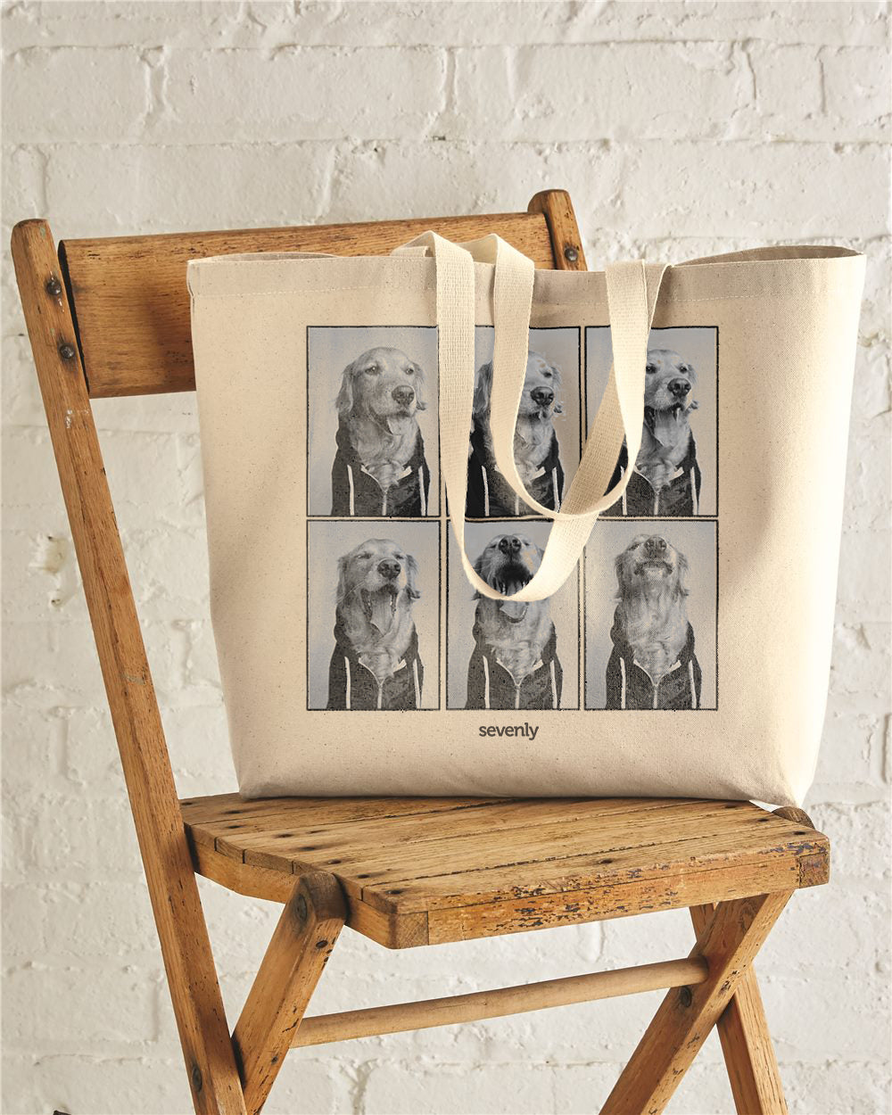 Dog Photo Booth Jumbo Cotton Canvas Tote Bag