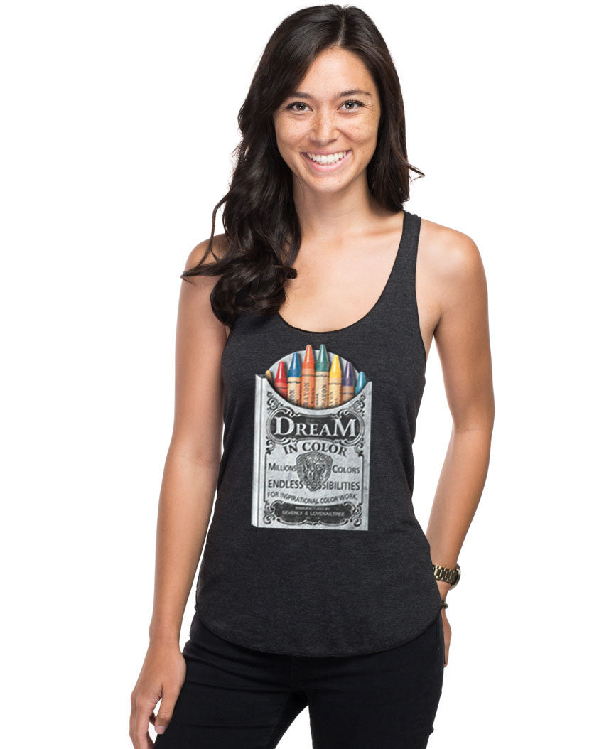 Dream In Crayola Fitted Racerback Tank