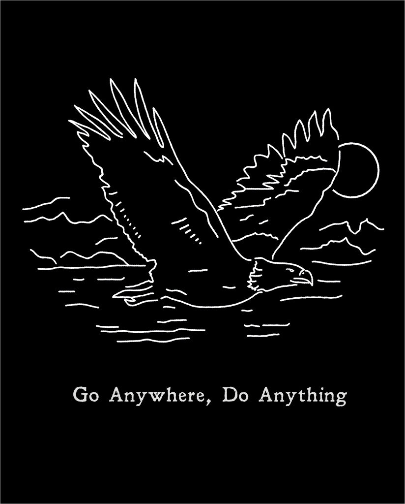 GO ANYWHERE DO ANYTHING Unisex Grey Eco-Jersey Football T-Shirt