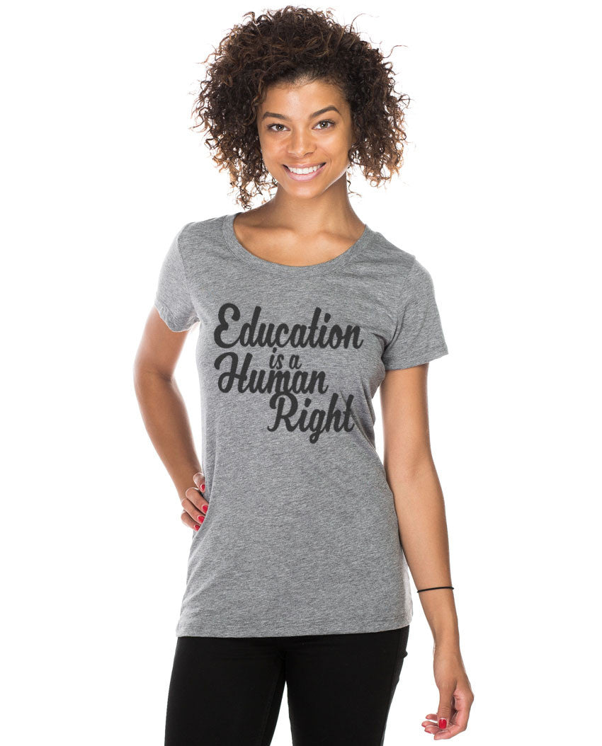 Education Is A Human Right Triblend Short Sleeve Tee