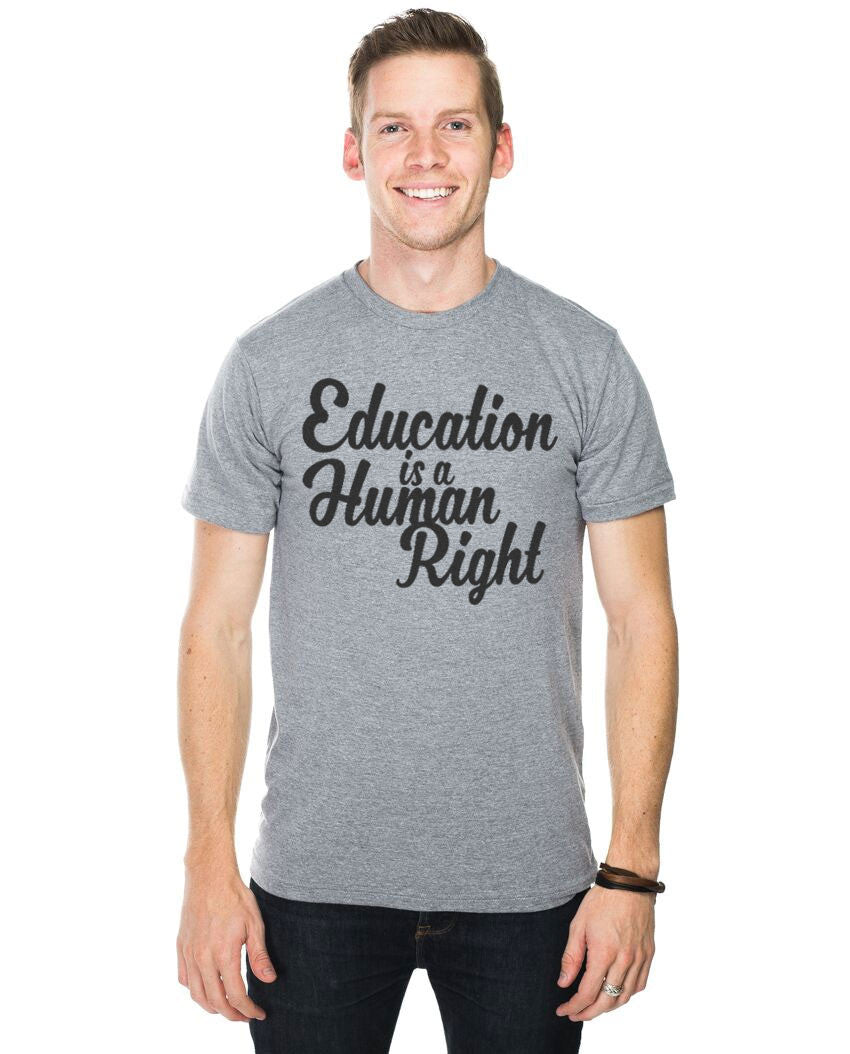Education Is A Human Right Fitted Tee