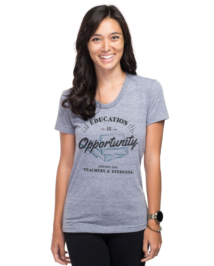 Education Is Opportunity Triblend Short Sleeve Tee