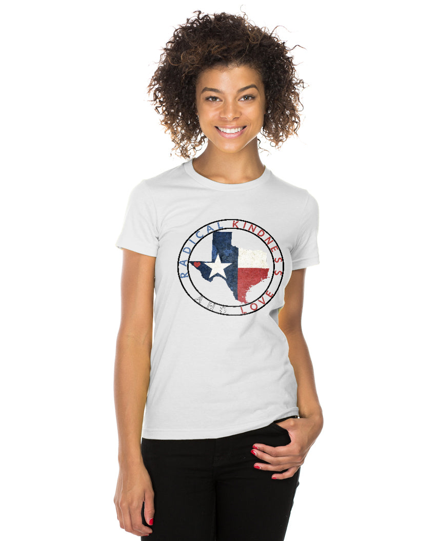 El Paso Radical Kindness & Love Women's Triblend Slim Fit Short Sleeve Tee