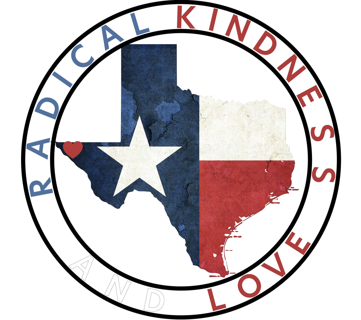 Texas Radical Kindness & Love Baby Cozy Graphic Tee Onesie in White