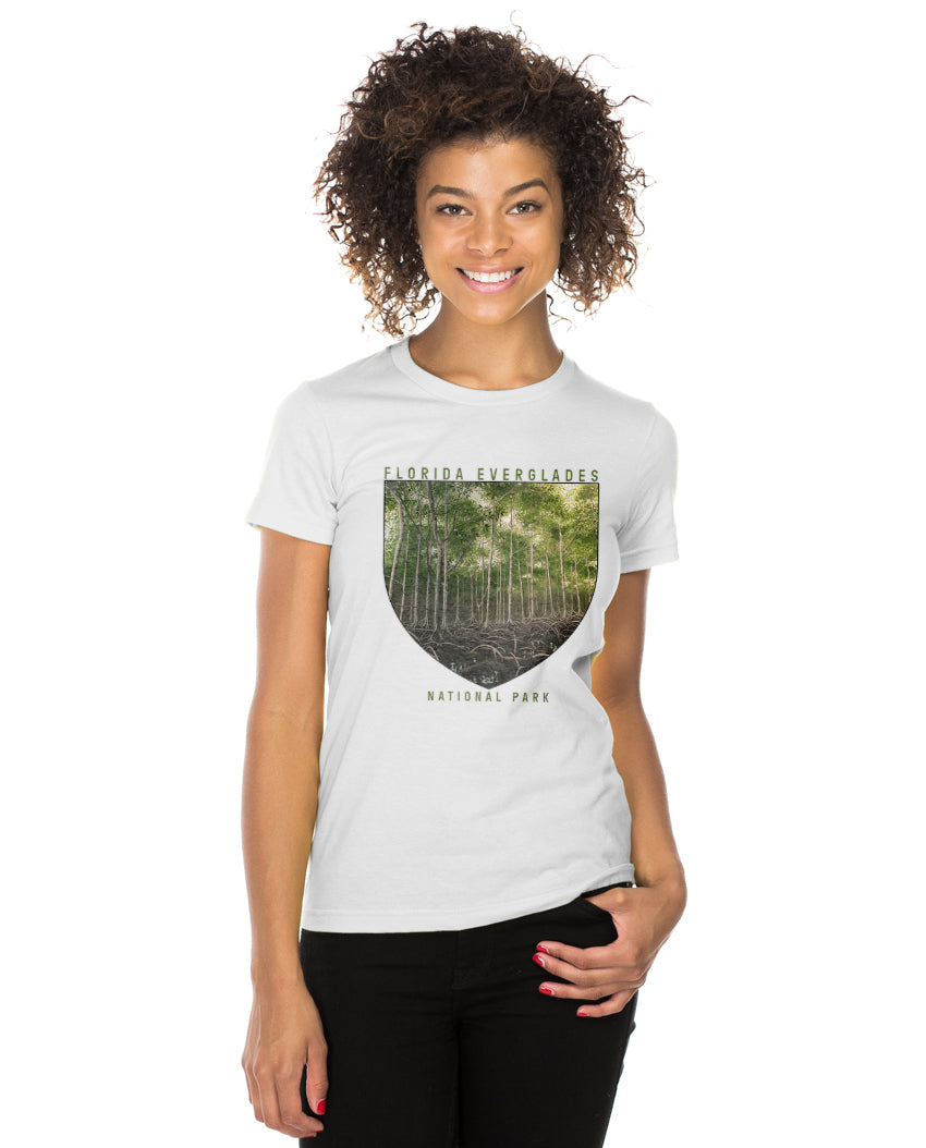 Florida Everglades National Park Women's Triblend Slim Fit Short Sleeve Tee