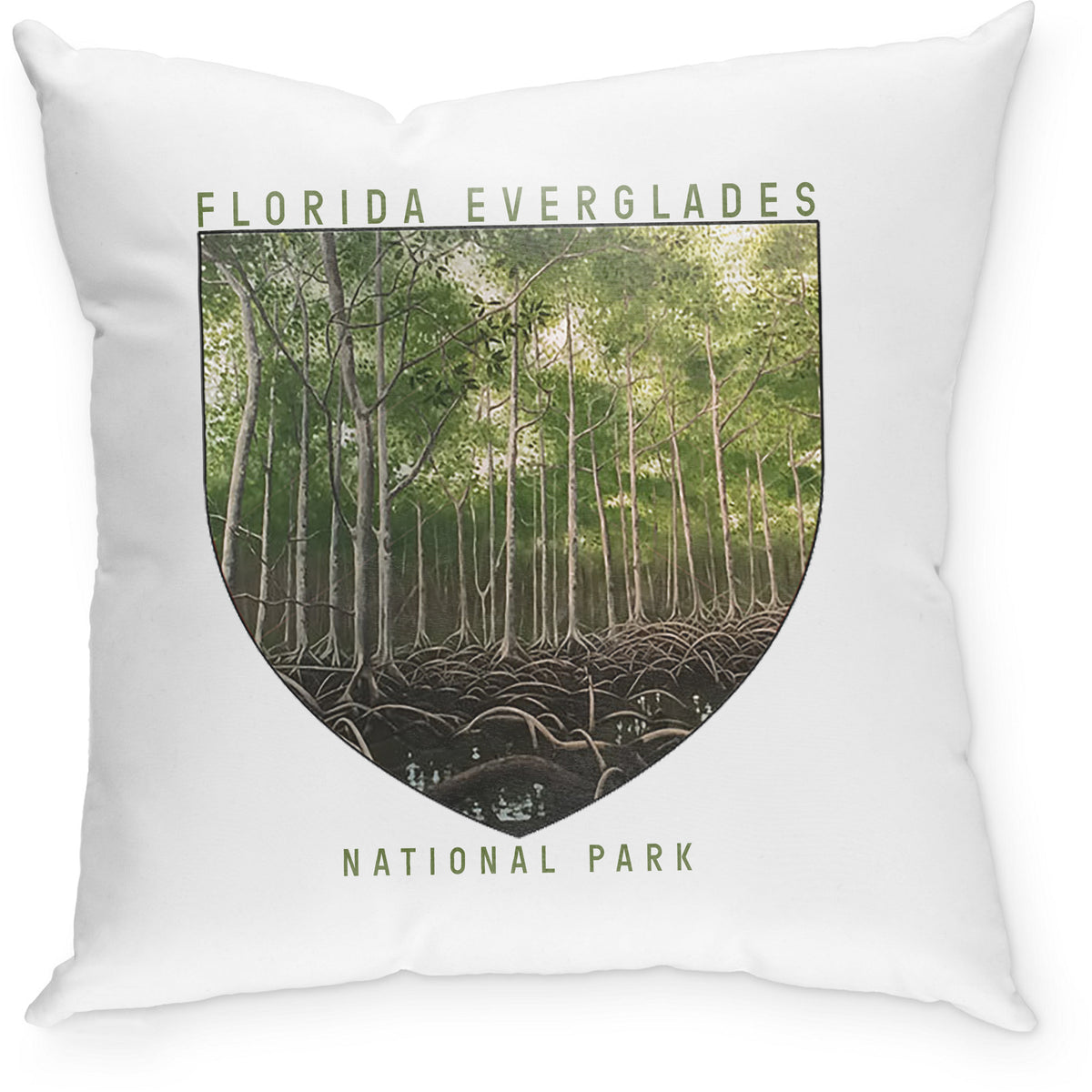 SEVENLY HOME GOODS - COTTON CANVAS THROW PILLOW - FLORIDA EVERGLADES NATIONAL PARK
