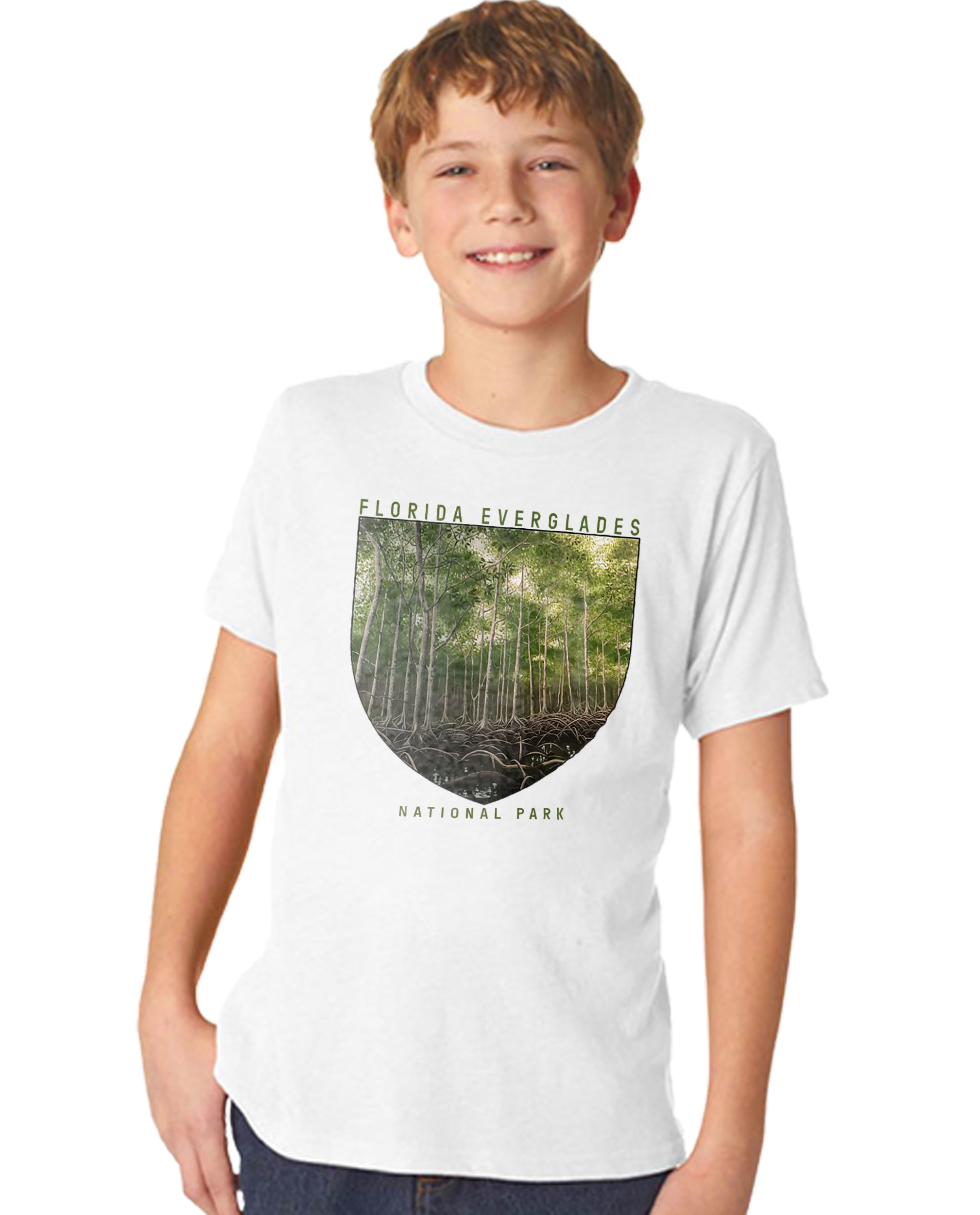 Florida Everglades National Park Boy's Premium Short Sleeve Crew