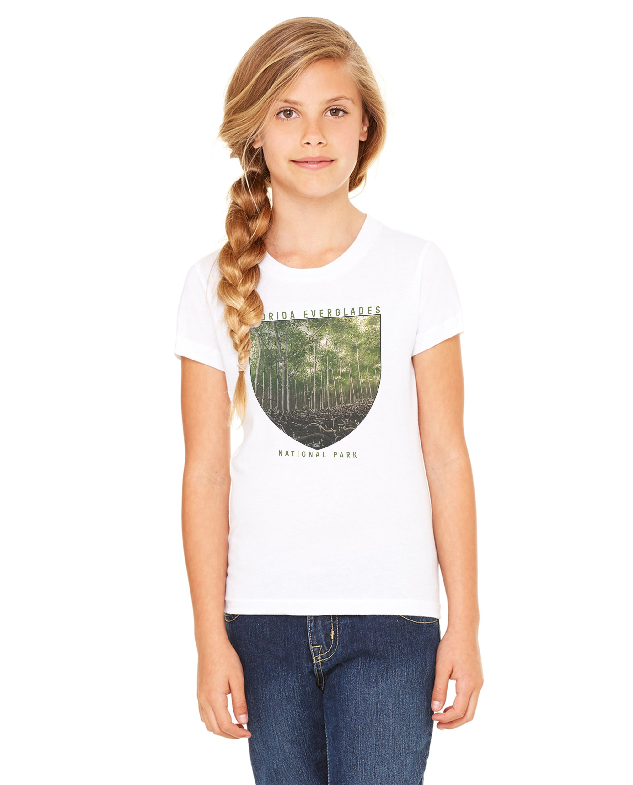 Florida Everglades National Park Girls Premium Short Sleeve Crew