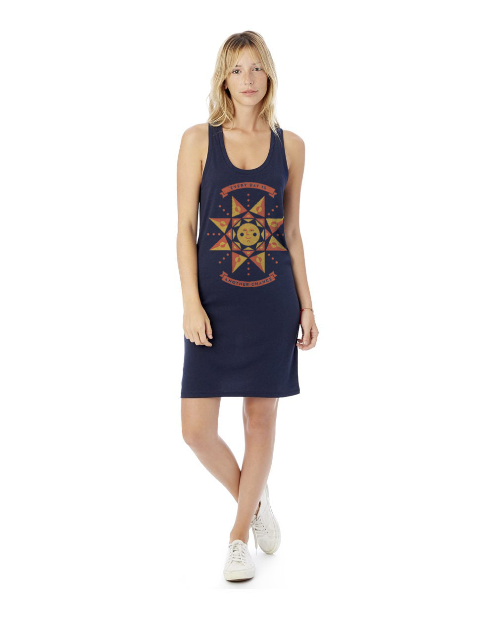 Every Day Is Another Chance Sun Women's Cotton Modal Jersey Tank Dress
