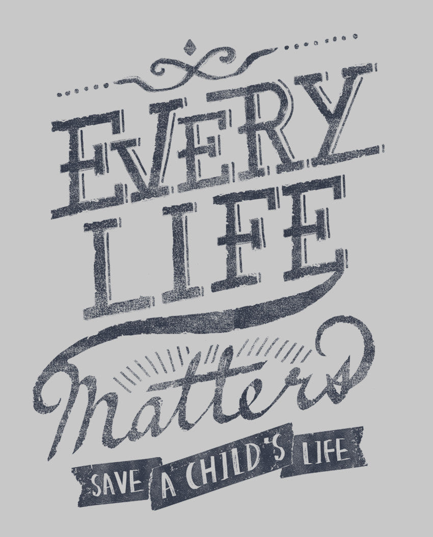 Every Life Matters Triblend Short Sleeve Tee