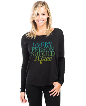 Every Person Flowy Long Sleeve Tee
