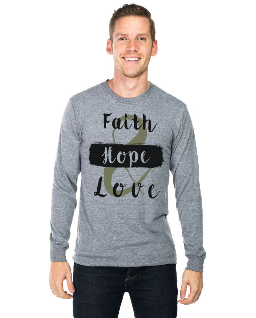 Faith Hope and Love Long Sleeve Tee