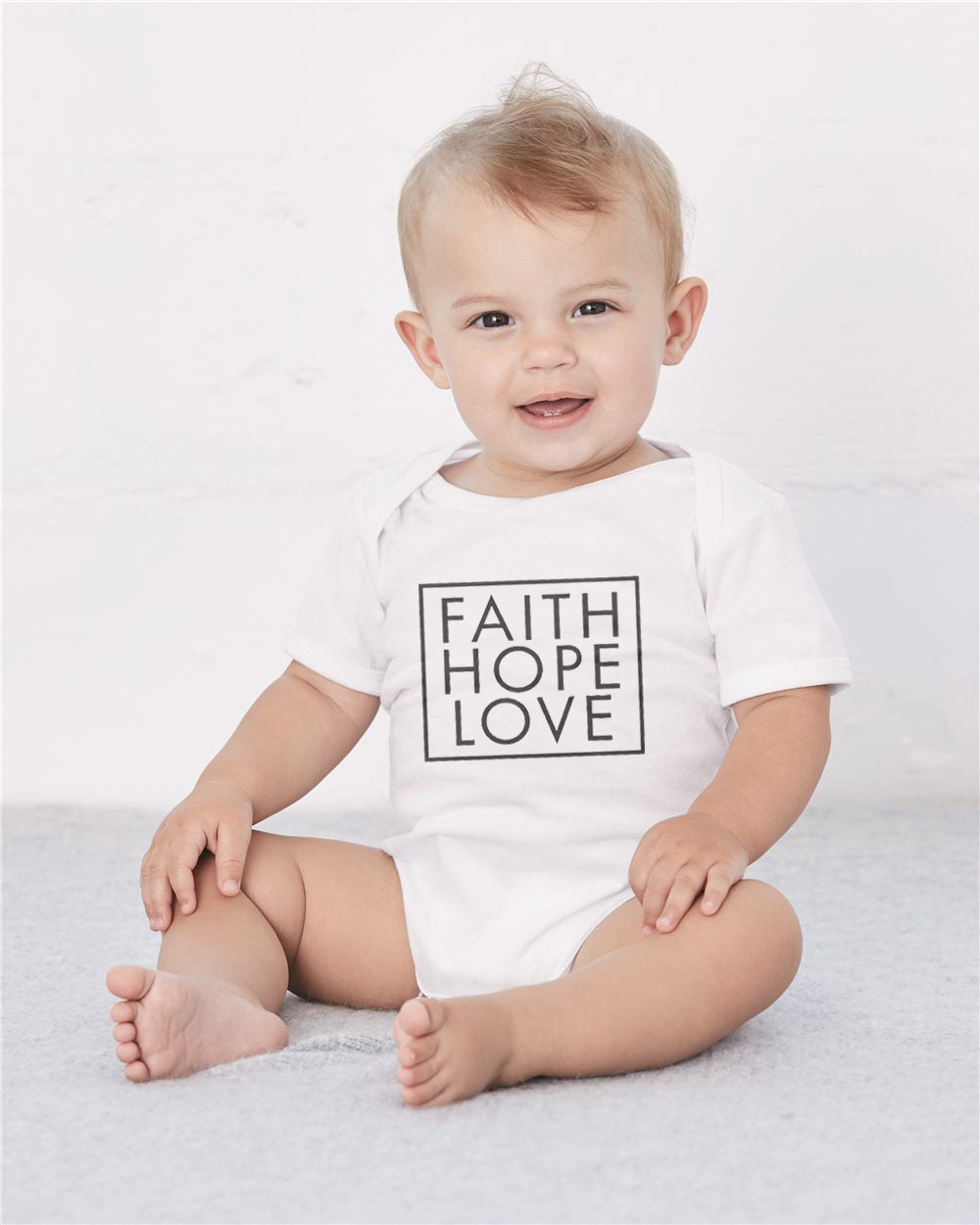 Faith Hope Love Premium Classic Tee Made In The USA For The Family