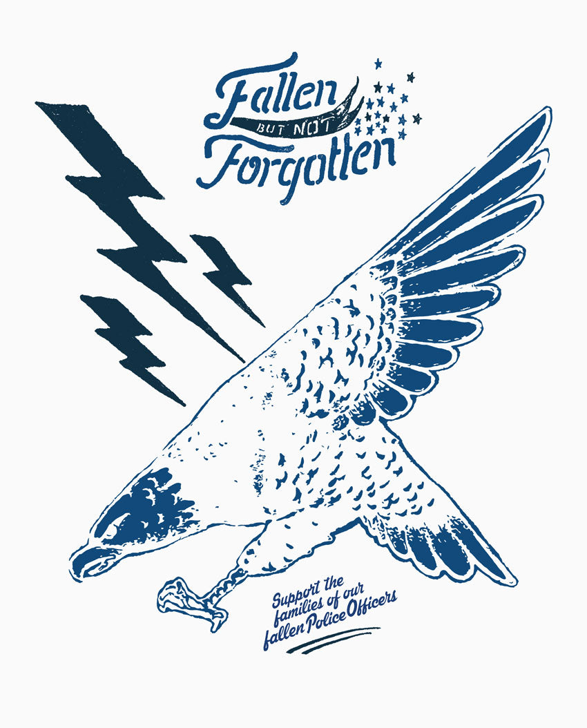 FALLEN NOT FORGOTTEN LAW ENFORCEMENT Mens Premium White Triblend Tee