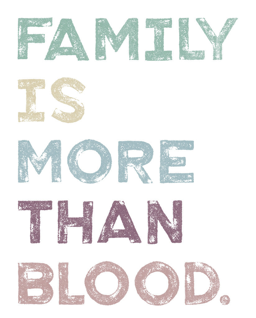 FAMILY IS MORE THAN BLOOD Womens White Flowy V-Neck